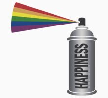 Happiness Spray Can - Rainbow by WAMTEES