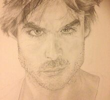 Ian Somerhalder Pencil Drawing by AmiableArtist