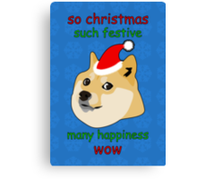 So Christmas - Doge Canvas Print