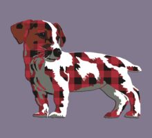 Buffalo plaid dog by rlnielsen4