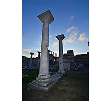 Sun set on Byzantine marble columns Photographic Print