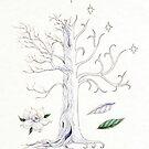 The White Tree of Gondor by Mariya Olshevska