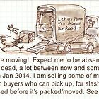 Moving Doodle, Moving Sale by © Cindy Schnackel