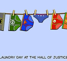 Laundry Day at the Hall of Justice by mimiboo