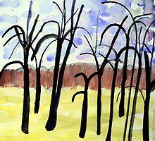 Mont Royal, Montreal, Autumn #3, watercolour by Edith Dora Rey