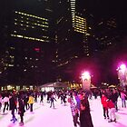 Night Time Skating, Bryant Park Skating Rink, Bryant Park, New York City by lenspiro