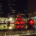 Holiday Ornaments, Holiday Decorations, Rockefeller Center, New York City by lenspiro