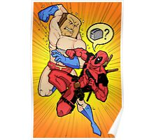 Powdered Toast Man vs. Deadpool Poster