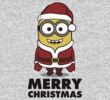 Santa Minion - New Version (black text) by lemontee