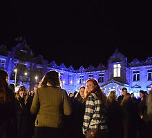 Ceilidh Dancers Take Their Places on St Andrew's Day by adrianwale