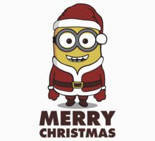Santa Minion - New Version (brown text) by lemontee