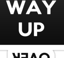 """Baby This Way Up """"If you can read this flip baby over"""" Sticker"""