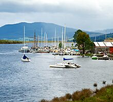 Marina at Huonville ~ Southern Tasmania by Renee Hubbard Fine Art Photography