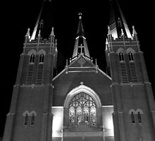 Holy Family Cathedral B&W by mhallen