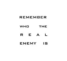 'Remember Who The Real Enemy Is' The Hunger Games: Catching Fire  by andthebirdssing