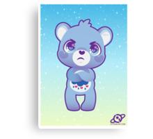 Grumpy bear Canvas Print