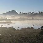 Mount Pillinger and mist on Tarn of Islands - Peter by PeterJF