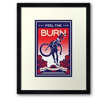 Feel the Burn retro cycling poster Framed Print