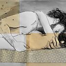 lovers on a patterned mattress by Loui  Jover