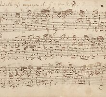 Old Music Notes - Bach Music Sheet by TilenHrovatic