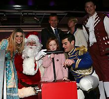 Anna Williamson & Matt Lapinskas at the xmas light switch on by Keith Larby