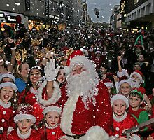 Father Christmas In Bromley Kent by Keith Larby