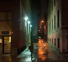 Alley On John Street In The Rain by Gary Chapple