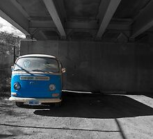 Blue Van Under The Ramp by Gary Chapple
