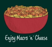 Starcraft Macro and Cheese - white text by SCshirts