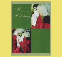 Mixed Color Poinsettias 2 Happy Holidays Q5F1 Kids Clothes