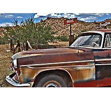 Corner of Brake and BurmaShave on Route 66 Photographic Print