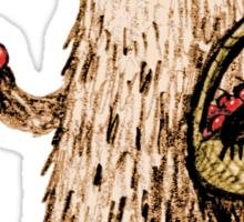 Apple Pickin' Bear Sticker