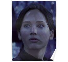 Katniss Everdeen/Jennifer Lawrence Painting Poster