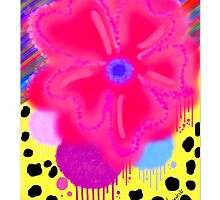 Dripping Flower and Animal print by MeenakshizArt