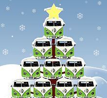 VW Camper Merry Christmas Tree by splashgti