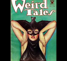 Retro Pulp Science Fiction comic cover  - Weird Tales by jeastphoto
