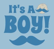 It's A Boy Blue Mustache by ArtVixen