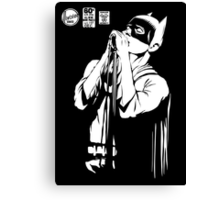 Post-Punk Dark Knight | The Shadowplay B&W Edition Canvas Print