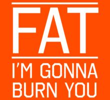 Fat. I'm gonna burn you by workout