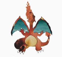 Space Pokemon #006 Charizard Clear Background by moonprincess70