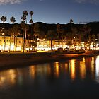 Catalina,Ca Dusk downtown by swylie