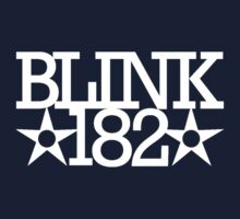 Blink 182 Classic Design 1 (White) by RWHTL