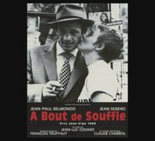 Jean-Luc Godard's BREATHLESS Vintage Foreign Movie Art by TrueLoveTees