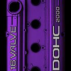 Mitsubishi Valve Cover 4G63 Purple (Samsung Case) by Hector Flores