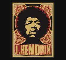 Jimi Hendrix  by M&J Fashion Graphic