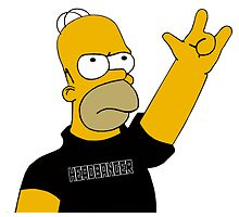 Homer Simpson - Headbanger by NejiHyugguh