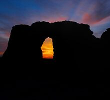 Sunset Through the Keyhole by adastraimages