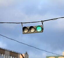 hanging traffic light by mrivserg