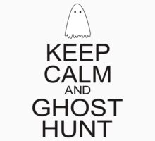Keep Calm and Ghost Hunt (Black Text) Kids Clothes