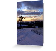 Amazing winter wonderland sundown | landscape photography Greeting Card